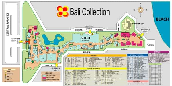 Bali Collection Map